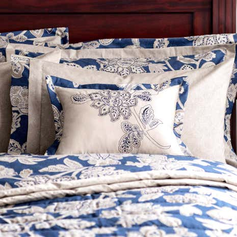 Dorma Samira Blue Boudoir Cushion