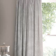 Dorma Dove Grey Paloma Lined Pencil Pleat Curtains