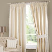 Cream Palais Lined Pencil Pleat Curtains