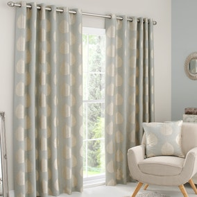 Eden Duck-Egg Lined Eyelet Curtains