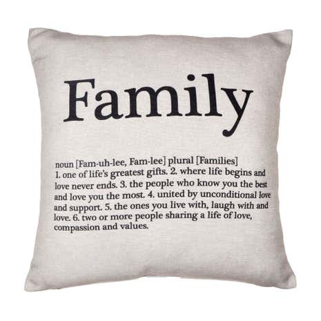 Natural Family Cushion