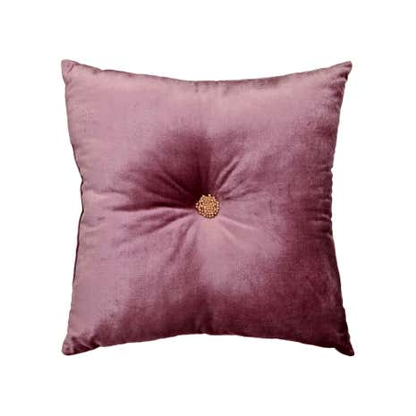 Velvet Button Square Cushion