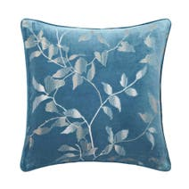 Hotel Teal Leaves Square Cushion
