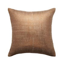 Bronze Shimmer Filled Square Cushion