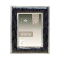 Hotel Faux Leather Black Photo Frame