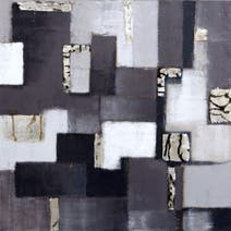Hotel Abstract Hand Painted Canvas