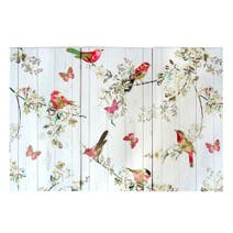 Beautiful Birds Triptych Printed Canvas