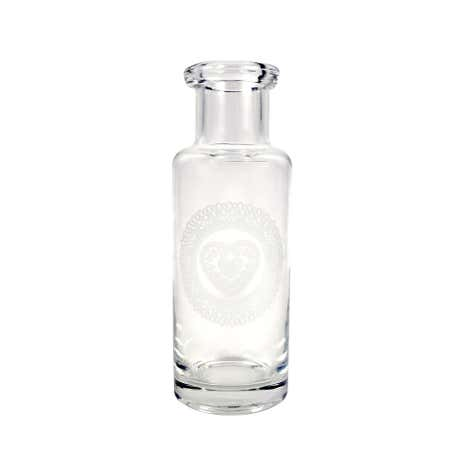 Heart Design Glass Bottle Vase