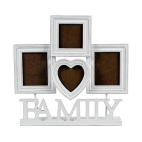 White Four Aperture Family Photo Frame