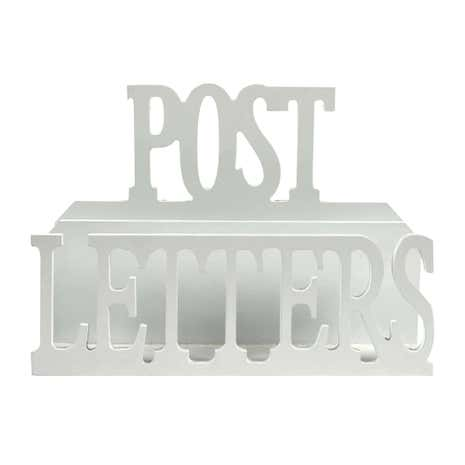 White Wooden Letter Rack