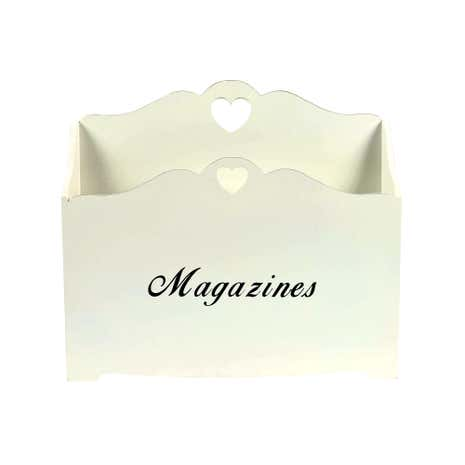 Cream Distressed Magazine Rack