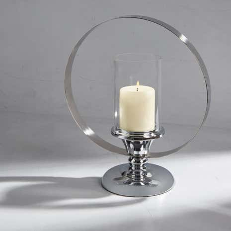 Dorma Steel Base Hurricane Candle Holder