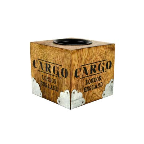 Cargo Wooden Tealight Holder Wood
