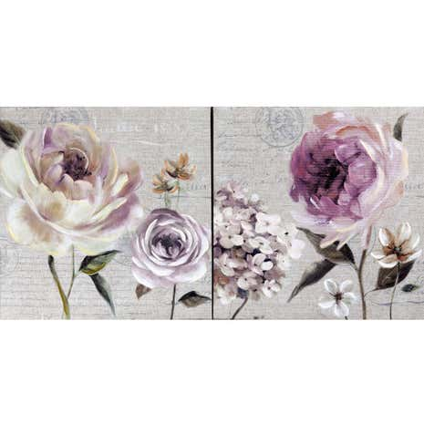 Graceful Glamour Pair of Canvases