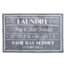 Grey Laundry Bath Mat