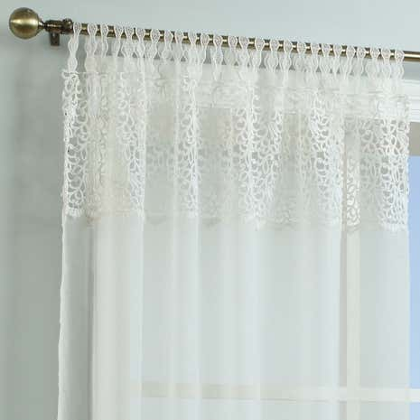 Ivory Marianne Macrame Voile