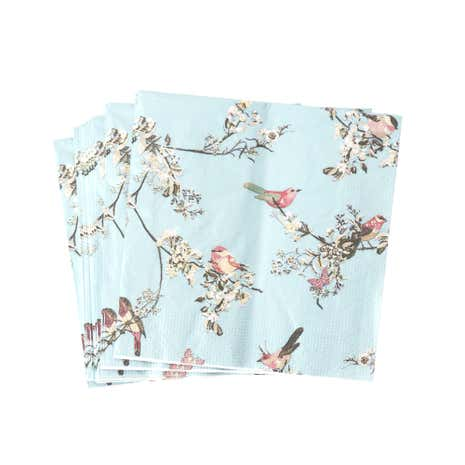 Beautiful Birds Duck-Egg Paper Napkins