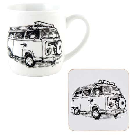 Campervan Mug and Coaster