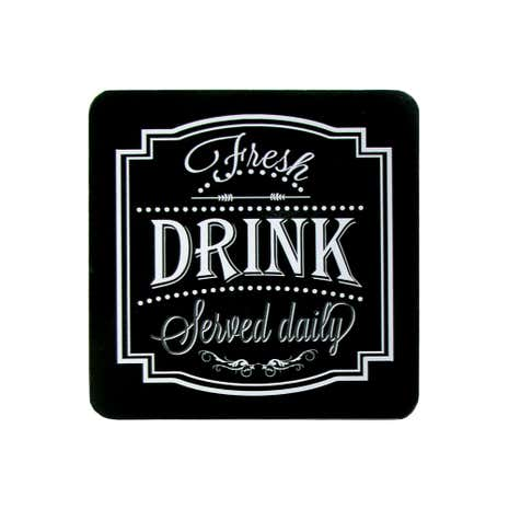 Chalk Board Pack of 4 Coasters