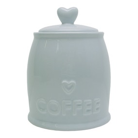 Country Heart Duck-Egg Coffee Jar