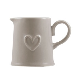 Country Taupe Heart Creamer
