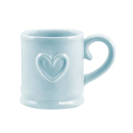 Country Heart Duck Egg Espresso Cup