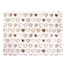 Country Taupe Heart Glass Worktop Saver