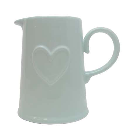 Country Heart Duck-Egg Green Jug