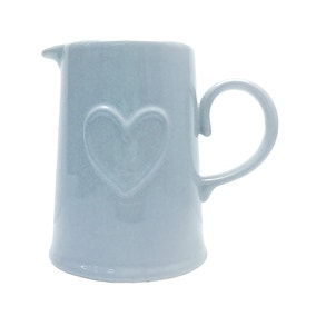 Country Heart Duck-Egg Blue Jug