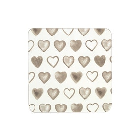 Country Heart Set of 4 Coasters