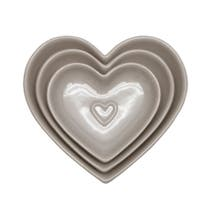 Taupe Country Heart Nesting Bowls