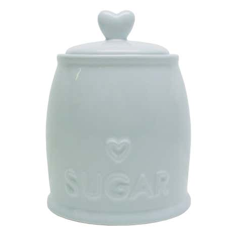 Country Heart Duck-Egg Sugar Storage Jar