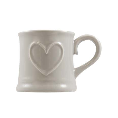 Country Taupe Heart Tankard Mug
