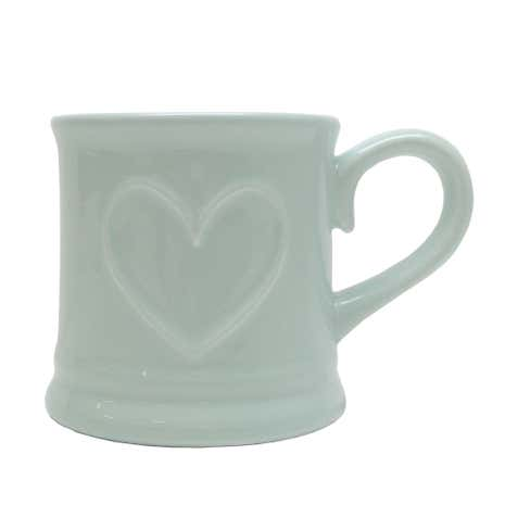 Country Heart Duck-Egg Tankard Mug