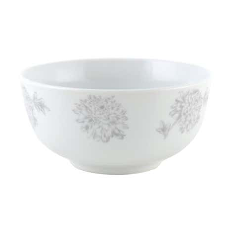 Etched Floral Bowl