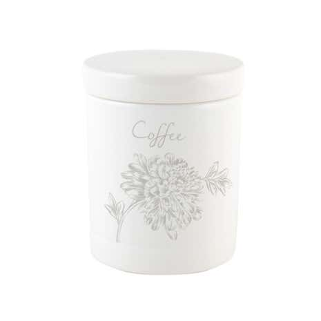 Etched Floral Coffee Canister