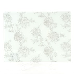 Etched Floral Glass Worktop Saver