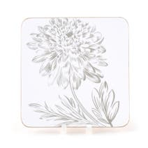 Etched Floral Set Of 4 Coasters