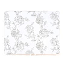 Etched Floral Set of 4 Placemats