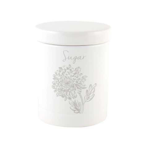 Etched Floral Sugar Canister