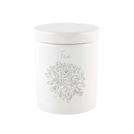 Etched Floral Tea Canister