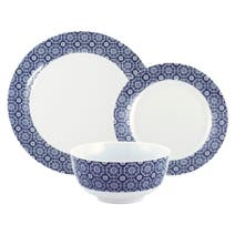 Indigo Bazaar 12 Piece Dinner Set