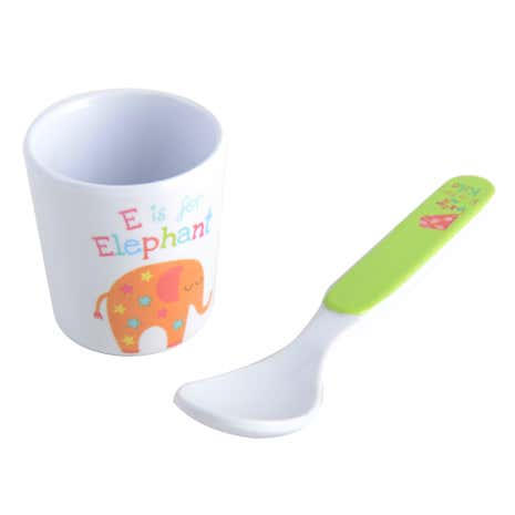 Kids Alphabet Egg Cup & Spoon Set