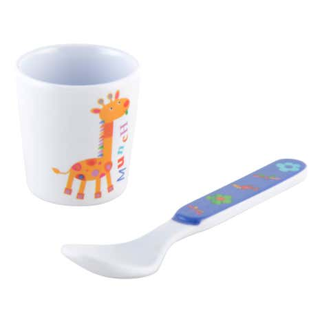 Kids Jungle Egg Cup & Spoon Set