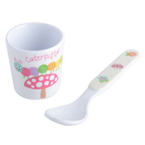 Kids Woodland Egg Cup and Spoon Set