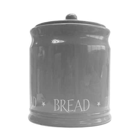 Grey Vintage Text Bread Bin