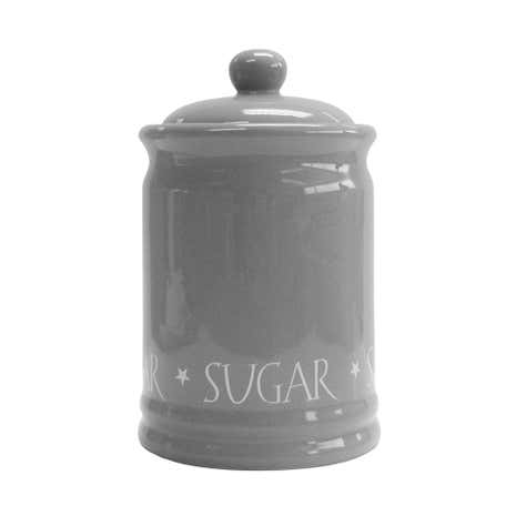 Grey Vintage text Sugar Canister