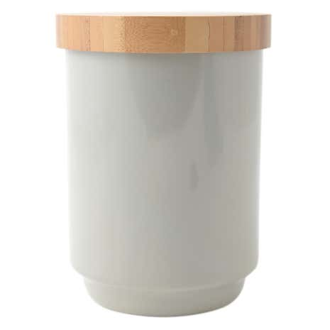 Grey Bamboo Lid Storage Canister