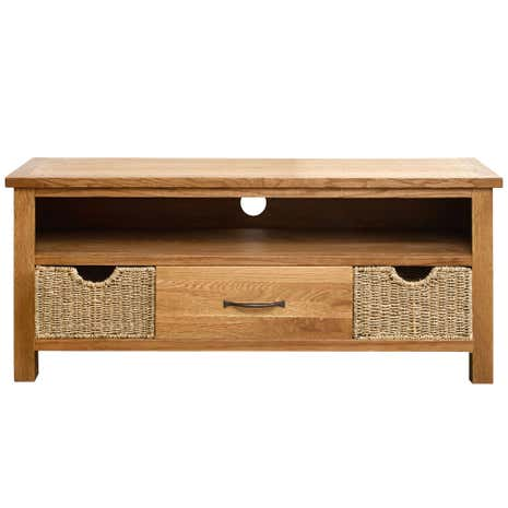 Sidmouth Oak Wide TV Stand