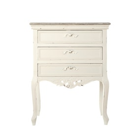 Camille Ivory 3 Drawer Chest
